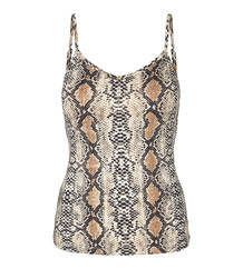 CO' COUTURE TOP, ANIMAL SINGLET SNAKE