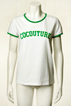 CO' COUTURE T-SHIRT, FLASHY HVID/GRØN