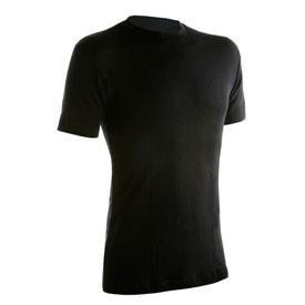 Janus Black Wool T-Shirt Herre