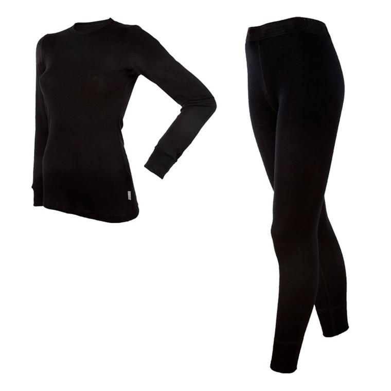 Janus Black Wool Sæt Dame