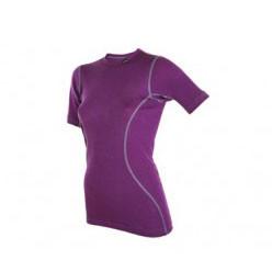 Janus Design Wool T-shirt Dame Lilla