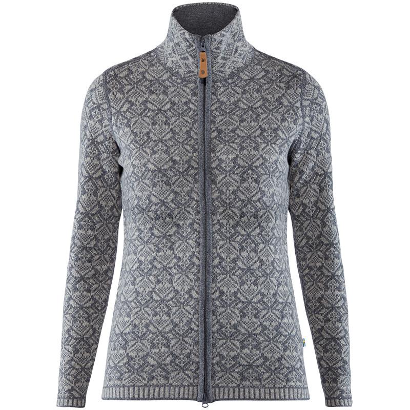 Fjallraven White Ovik Frost Cardigan (ecru) Women's Sweater