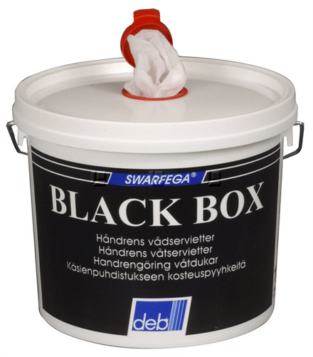 Black Box Wipes, renseservietter 150 stk