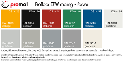 Profloor EPW epoxymaling - 6 kg sæt