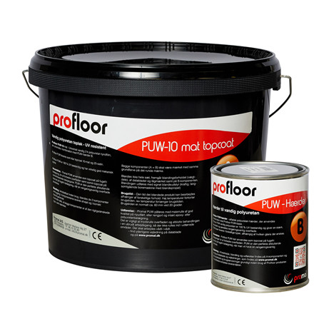 ProFloor PUW matt - pigmented PU top coat, 10 kg