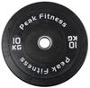 Peak Fitness Bumper Plate 10 kg