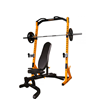 Powertec Half Rack Yellow træningssæt m. 128 kg. Bumper Plates