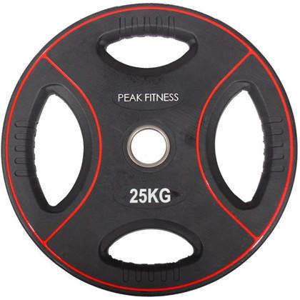 Peak Fitness 25 kg OL vægtskive Poly Urethane