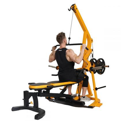 Powertec Workbench Levergym Yellow+77,5 kg PU-vægtsæt