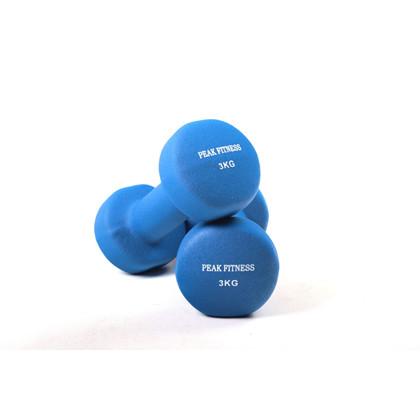Peak Fitness 2 x 3 kg Neopren Håndvægt