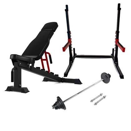 Peak Fitness træningssæt inkl. 110 kg.  vægtsæt 30 mm. jern