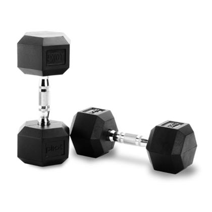 Peak Fitness Hex Håndvægte 12,5-27,5 kg inkl. stativ