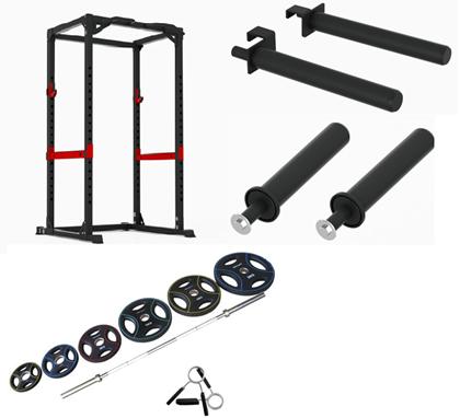 Peak Fitness 128 kg OL Træningssæt