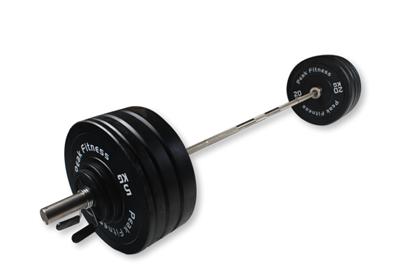 128 kg Bumper Vægtsæt - Peak Fitness