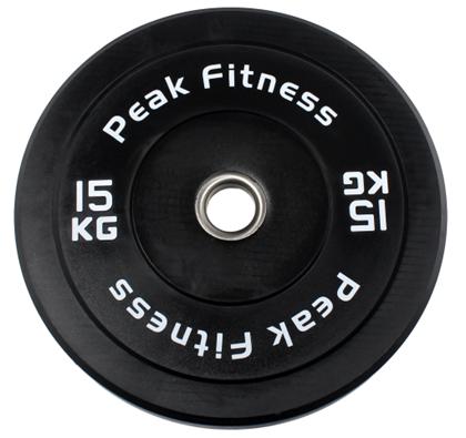 Peak Fitness Bumper Plate 15 kg