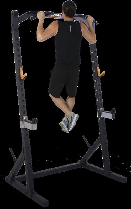 Powertec Half Rack Black træningssæt m. 125 kg PU-skiver