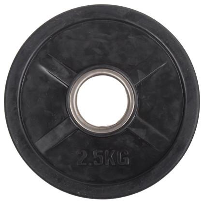 2,5 kg Sort OL vægtskive m/ gummi