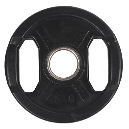 5 kg Sort OL vægtskive m/ gummi