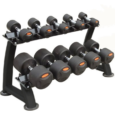 Peak Fitness Håndvægte - 22-30 kg. inkl. stativ