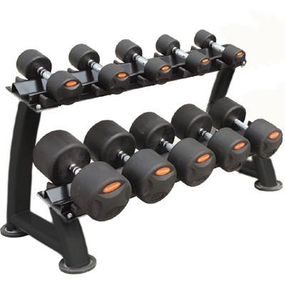 Peak Fitness håndvægte 12 - 20 kg. inkl. stativ