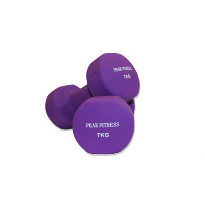 Peak Fitness Neopren 2 x 7 kg Håndvægt