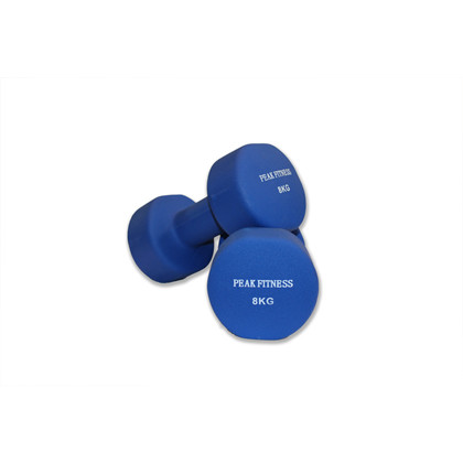 Peak Fitness Neopren 2 x 8 kg Håndvægt