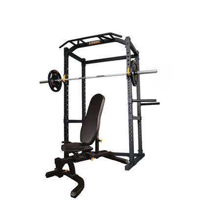 Powertec Power Rack 128 kg. træningssæt m. Sort OL
