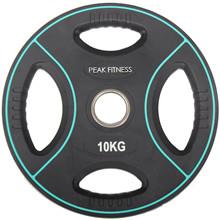 Peak Fitness 10 kg OL vægtskive Poly Urethane