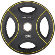 Peak Fitness 15 kg OL vægtskive Poly Urethane