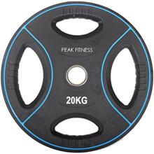 Peak Fitness 20 kg OL vægtskive Poly Urethane