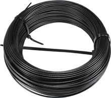 Wire Silkewire 6 mm. PA 12 Sort