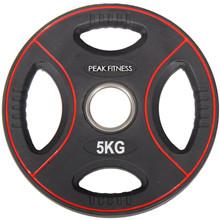 Peak Fitness 5 kg OL vægtskive Poly Urethane