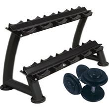 Pro Håndvægtssæt m. Stativ - 30-40 kg.