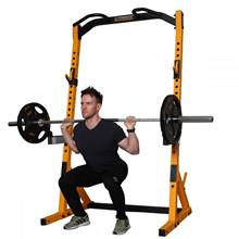 Powertec Half Rack Yellow træningssæt m. 128 kg PU-skiver