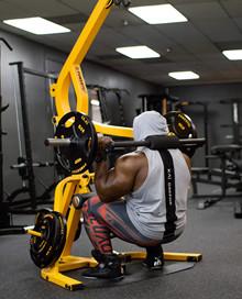 Powertec Levergym Yellow + 77,5 kg Bumper Plates