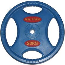 20 kg. Vægtskive m/gummi