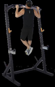 Powertec Half Rack Black træningssæt m. 128 kg PU-skiver