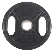 10 kg Sort OL vægtskive m/ gummi