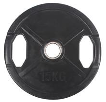 15 kg Sort OL vægtskive m/ gummi