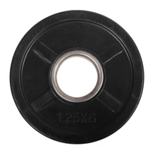 1,25 kg Sort OL vægtskive m/ gummi