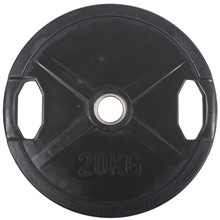 20 kg Sort OL vægtskive m/ gummi