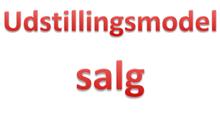Udstillingsmodel salg