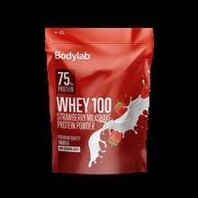 Bodylab Whey 100 Protein - 1kg Strawberry Milkshake