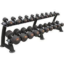 Peak Fitness Håndvægte - 12-30 kg. inkl. stativ