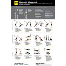 TRX plakat - styrkeøvelser Avanceret