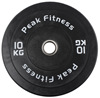 Powertec Half Rack Black træningssæt m. 128 kg. Bumper Plates