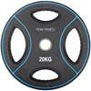 128 Kg. OL PU Vægtsæt Peak Fitness - 300 kg. 220 cm. OL stang