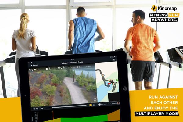 Kinomap Multiplayer løbebånd