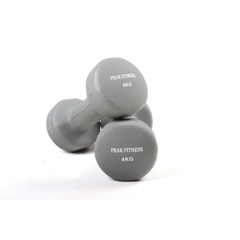 Godt Køb Peak Fitness 2 x 4 kg Neopren Håndvægt online her AK22