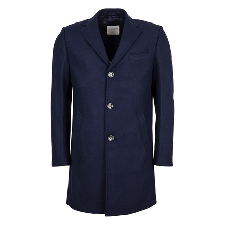 Knowledge Cotton Apparel CLASSIC NAVY WOOL COAT